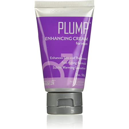 Doc Johnson Plump - Enhancing Cream For Men - Enhances Thickness and Size for Intense Pleasure - Odorless and Tasteless - Free of Glycerin - 2 Oz. (56g)