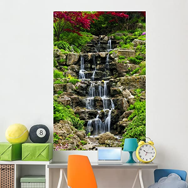 Wallmonkeys Cascading Waterfall Wall Mural Peel And Stick Graphic 72 In H X 48 In W WM30901