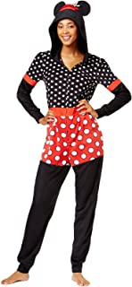 Briefly Stated Women's Minnie Mouse Hooded Jumpsuit
