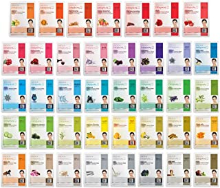 Best DERMAL 39 Combo Pack Collagen Essence Full Face Facial Mask Sheet - The Ultimate Supreme Collection for Every Skin Condition Day to Day Skin Concerns. Nature made Freshly packed Korean Face Mask Review