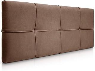 SUENOSZZZ-ESPECIALISTAS DEL DESCANSO Cabecero de Cama tapizado, Modelo Square para Camas de 150 (160 x 57 cm) Tela Marron