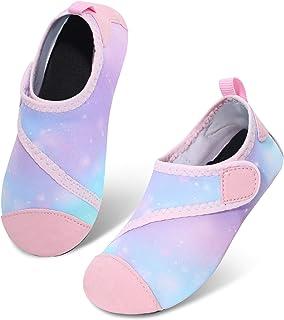 احذية مائية صيفية رياضية للاطفال الاولاد والبنات بتصميم يشبه الجوارب للارتداء على للشاطئ او في حوض السباحة