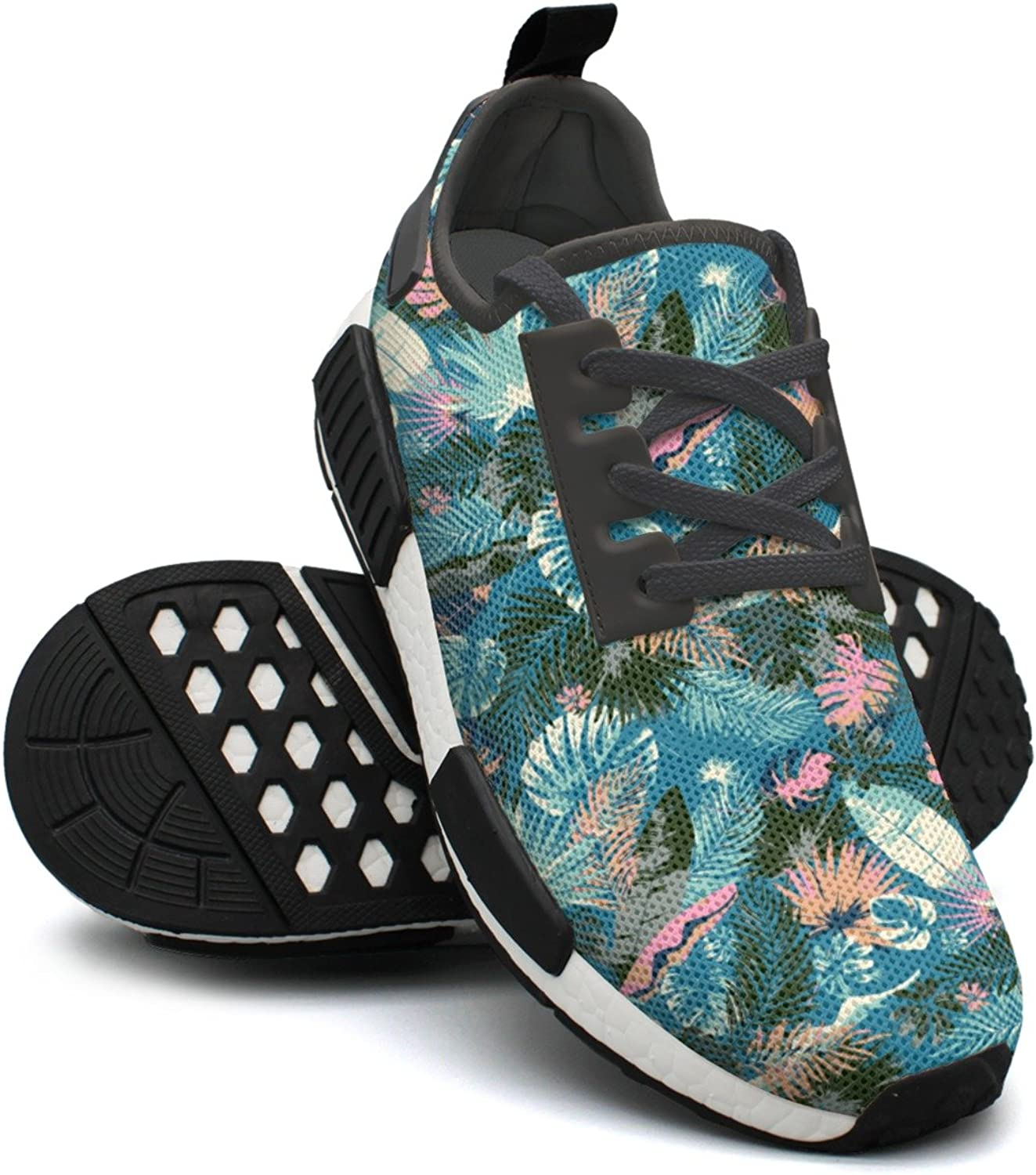 Tropical Summer Print With Exotic Leaves Lightweight Running shoes Women Nmd shoes Sport