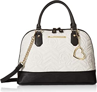 Betsey Johnson Womens Dome Satchel