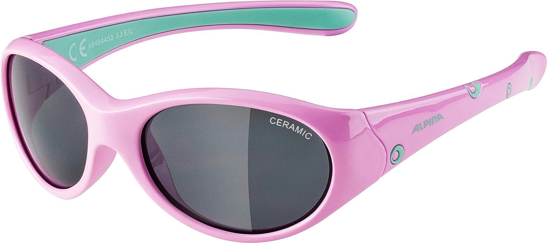 Alpina Girls' Brille Flexxy Sunglasses Black Black