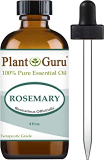 Rosemary Essential Oil 4 oz 100% Pure Undiluted Therapeutic Grade for Aromatherapy, Diffuser, Skin, Face, Body, Stimulates Hair Growth, Dandruff Control.