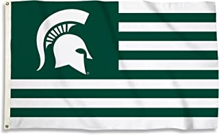 NCAA Michigan State Spartans 0.9m. x 1.5m Flag with Grommets, Green & White, One Size
