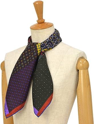 [Pierre Louis Mascia【ピエールルイマシア】]スカーフ ALOE65 44068 シルク ボルドー