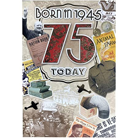 75TH BIRTHDAY MALE YEAR YOU WERE BORN BIRTHDAY GREETING CARD WITH FACTS ABOUT 19