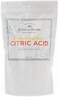 Relative Foods, Food Grade Citric Acid, 2-Pounds, Packaged in our allergen free facility, stand up pouch with resealable z...