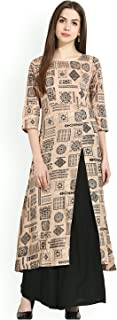 AnjuShree Choice Women Stitched Printed Cotton A-Line Kurti Kurta