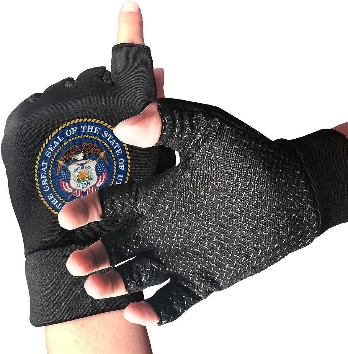 Gloves Utah Flag UT Fingerless Gloves Short Touchscreen Gloves Winter Motorcycle Biker Mitten