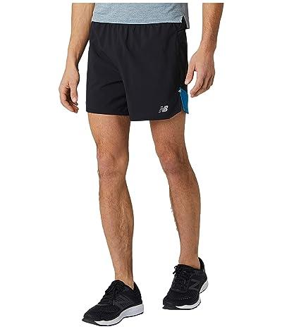New Balance Impact Run 5-Inch Shorts (Mako Blue) Men