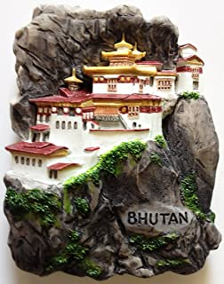 Tiger's Nest Monastery BHUTAN High Quality Resin 3D fridge Refrigerator Thai Magnet Hand Made Craft. by Thai MCnets