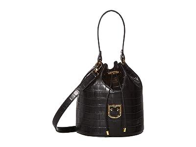 Furla Corona Small Drawstring (Nero) Handbags