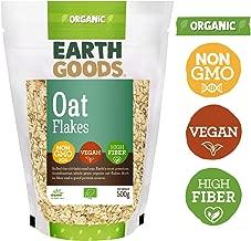 Earth Goods Organic Gluten-Free Oat Flakes, NON-GMO, High Fiber, 500 gm