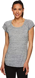 HEAD Women's Cap Sleeve Workout T-Shirt - Performance Tennis Gym & Exercise Activewear Top