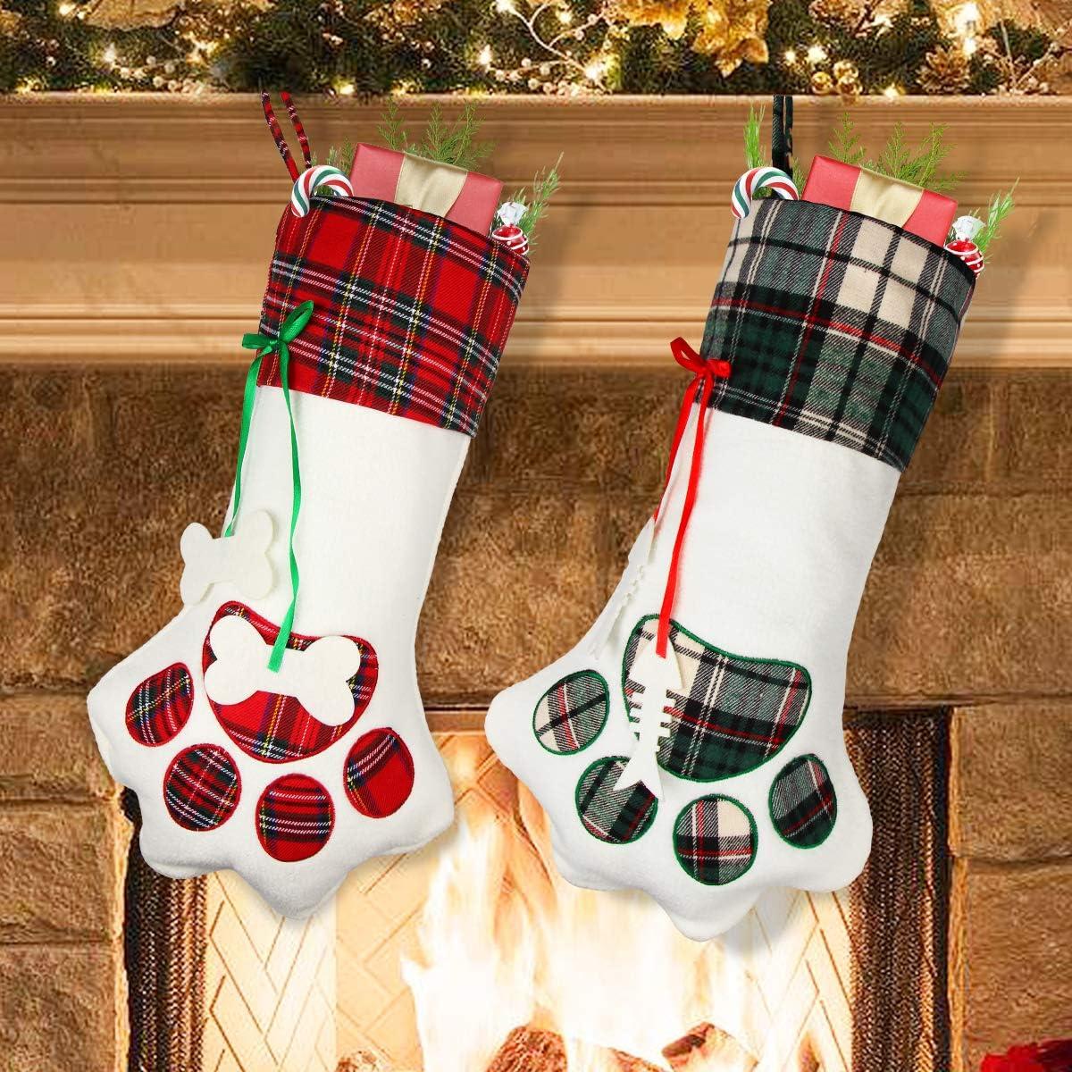 Aiduy Pet Max 76% OFF Christmas Elegant Stocking 2 Dog 18