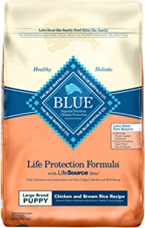 Blue Buffalo Life Protection Formula Large Breed Puppy Dog Food – Natural Dry Dog Food for Puppies – Chicken and Brown Rice – 30 lb. Bag