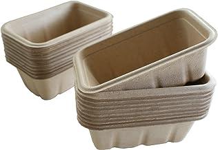 無漂白・無着色・100%天然素材 生分解する ミニコンテナ(商品パッケージに、アウトドアに、小物の収納に) (20個入)