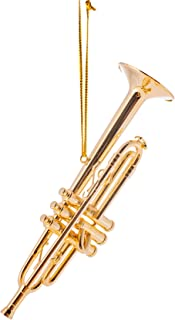 Brass 4.5 Gold Trumpet Musical Music Instrument Replica Ornament