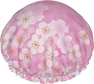 Sakura kwiatowe gałąź drzewa wiosna wodoodporna czapka prysznicowa z elastycznym obszyciem odwracalna konstrukcja do prysz...