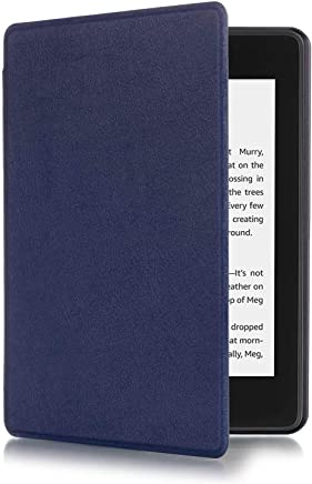 AIJAKO Kindle Paperwhite 2018 Case Cover - Premium PU Leather Magnetic Smart Shell Cover with Auto Sleep/Wake for All-New Amazon Kindle Paperwhite (10th Generation-2018) (Navy)