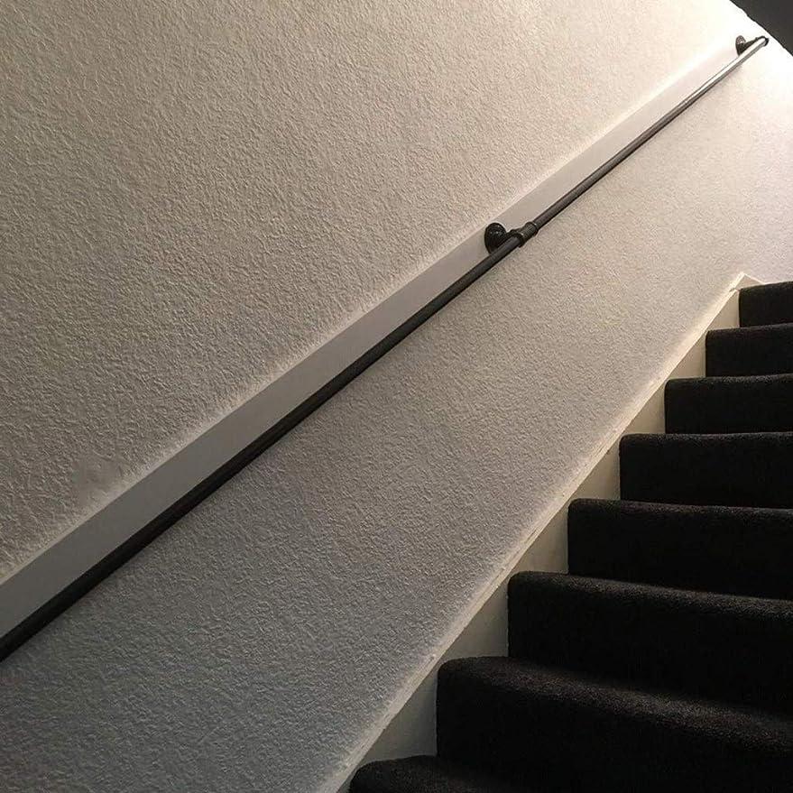 小包してはいけません前件手すり, 1フィート、20フィート無効屋外階段のステップのための手すり、階段エクステリア外付けのための黒い手すりブラケット、階段手すりバニスター手すりキットハンドレールの外側 (Size : 5ft)