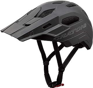707856VAR - Casco bicicletta ciclismo C-MANIAC 2.0 TRAIL COLORE MAT NERO TAGLIA 58-61