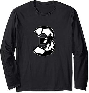 Soccer Number 3 - European Football Jersey 3 Futbol fußball Long Sleeve T-Shirt
