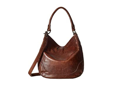 Frye Melissa Hobo (Dark Brown Antique Pull Up) Hobo Handbags