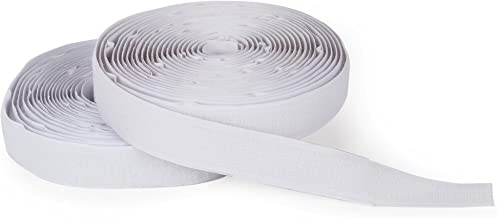 """Darice Hook and Loop Strips – Strong Self-Adhesive Interlocking Tape – Great for Sewing, Crafting, Around The House and Classroom – Easily Cut to Size – 3/4"""" W x 15' L, White"""