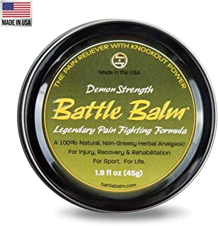 Battle Balm Demon Strength Pain Relief Cream (1.9-Ounce) - All-Natural and Organic Topical Analgesic for Arthritis, Muscle...