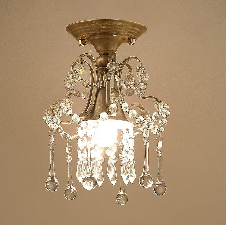 LeiLight Deckenlicht hngenKristall-Deckenleuchte im amerikanischen Stil Vintage K9 klarer Kristall-Unterputzmontage-Beleuchtungskrper für Esszimmer-Flur
