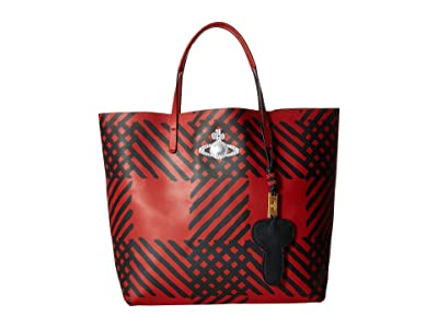 Vivienne Westwood Leather Shopper (Red) Handbags