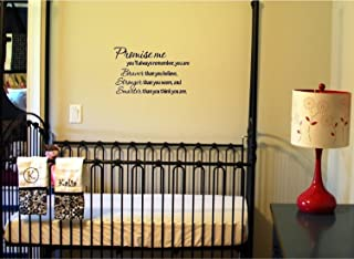 #2 Promise me you'll always remember... Winnie the Pooh Vinyl wall art Inspirational quotes and saying home decor decal sticker