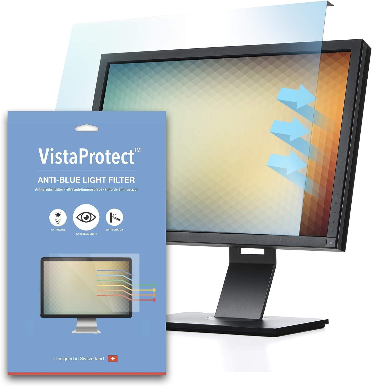 VistaProtect - Filtro de Anti Luz Azul y Protector Premium para Pantallas de Ordenador & Monitores, Desmontable (Universal de 20