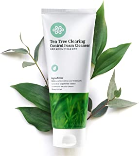 LovLuv Tea Tree Foaming Facial Cleanser, K Beauty Daily Face Wash with Natural Ingredients and Anti Aging Properties [6 Oz...