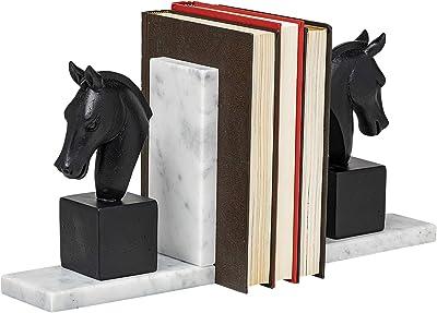 Mercana Hidalgo Black Resin Majestic Horse Bust Bookend