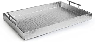 American Atelier 1270101 Alligator Rectangle Serving Tray with Handles, 14