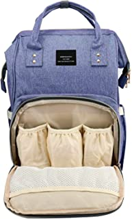 House of Quirk Baby Diaper Bag Maternity Backpack (Purple)