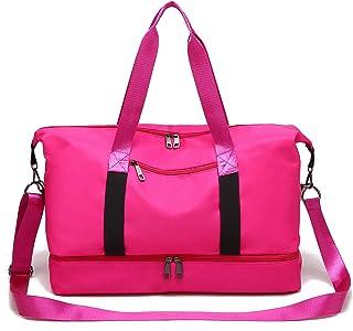 I IHAYNER Schulter-Handtaschen-Frauen-Damen-Segeltuch-Hochleistungs-Multifunktionstaschen Art und Weise pink