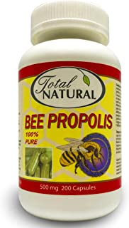 Sponsored Ad - Bee Propolis 500mg 200c [1 Bottle] by Total Natural, Anti-Inflammatory, Battling Free Radicals, Safe and Na...