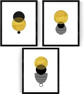 Nacnic Ensemble de 3 Cadres pour l'encadrement. Affiches d'Éclipse Solaire de Style Nordique pour la décoration intérieur...