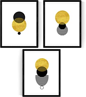 Nacnic Ensemble de 3 Feuilles au Cadre Solaire Eclipse Posters Style Nordique pour la décoration intérieure. Format A3