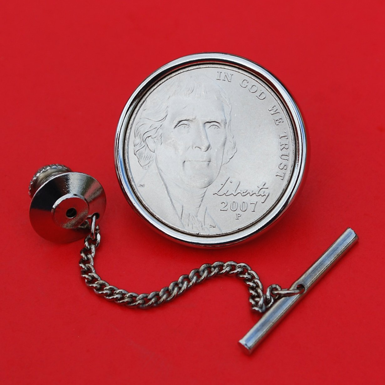US A surprise price OFFicial shop is realized 2007 Jefferson Nickel 5 Cent Uncirculated BU Coin Silver Plat