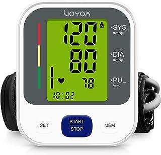 VOYOR Tensiometro de Muñeca, Automatico Digital Tensiómetro de Brazo con Gran pantalla LCD retro iluminada, 2 modos de usuario con 240 memoria, Deteccion de Irregular Arritmia BP100