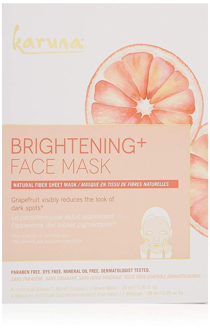 Karuna Brightening+ Face Mask 4sheets並行輸入品