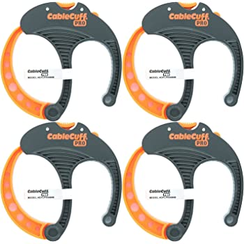 Cable Cuff PRO (4 Pack: 4x Large 3 Inch Diameter) Adjustable, Reusable, Cable Tie Replacements for Extension Cords or Electronics