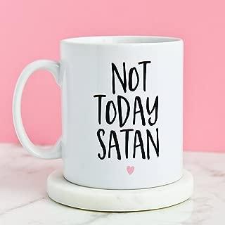 Not Today Satan Mug,Present Coffee Gifts Mugs,Thanksgiving Day Gifts,Christmas Gift-11 oz